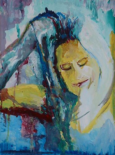 Rudolf Lehmann, Tänzerin, Movement, People: Women, Neo-Expressionism