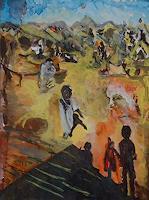 Rudolf-Lehmann-Meal-People-Children-Contemporary-Art-Neo-Expressionism