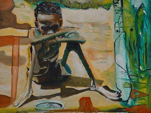 Rudolf Lehmann, Armut, Meal, Death/Illness, Neo-Expressionism