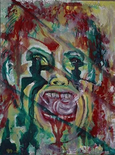Rudolf Lehmann, Joker, Burlesque, Society, Neo-Expressionism