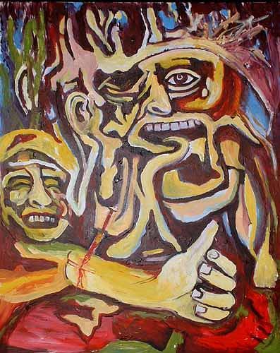 Rudolf Lehmann, Krieg der Seelen, People: Group, Emotions: Depression, Pluralism