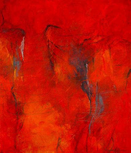 Ana Matt, Die drei gewaltigen Gesellen, Mythology, Abstract art, Modern Age