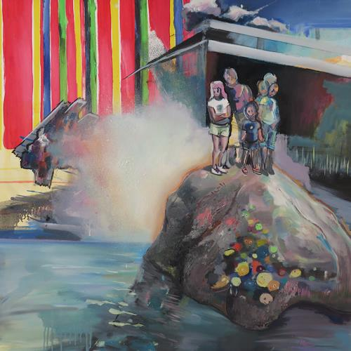 Michael Ebel, Elefant, People: Group, Landscapes: Summer, Abstract Art, Abstract Expressionism