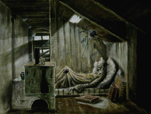 Lilie, Der vergessene Poet, Still life, Realism, Abstract Expressionism