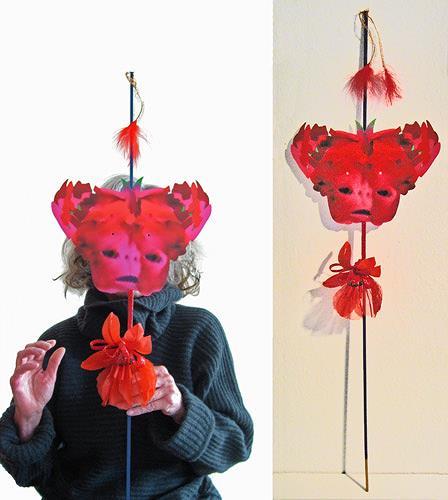 Rotraut Richter, Die Maske von Venedig The Mask of Venice, Symbol, Contemporary Art, Abstract Expressionism