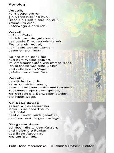 Rotraut Richter, Gedicht in Poem in www.miss-verstehen.de, Miscellaneous, Contemporary Art