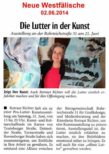 Rotraut Richter, NW-Artikel Bielefelder Lutter in der Kunst, Miscellaneous, Situations, Contemporary Art