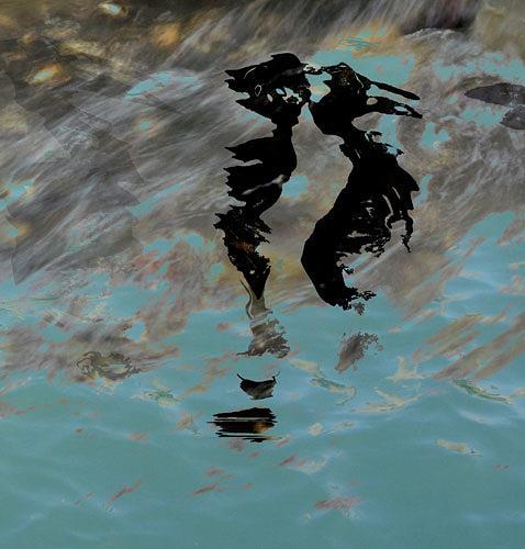 Rotraut Richter, Lutterspiegelungen 1, Burlesque, Nature: Water, Contemporary Art, Abstract Expressionism
