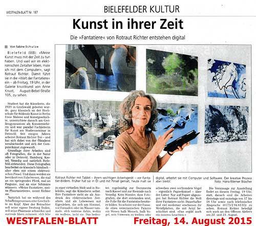 Rotraut Richter, Westfalen-Blatt, Miscellaneous Animals, Miscellaneous, Contemporary Art