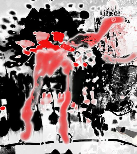 Rotraut Richter, Flügeltier-, Burlesque, Situations, New Image Painting, Abstract Expressionism