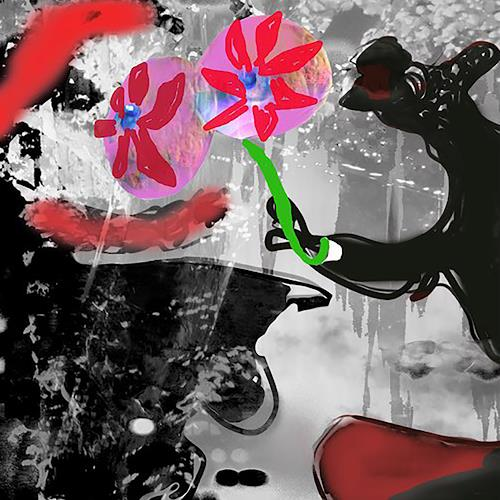 Rotraut Richter, Rendezvous, Burlesque, Miscellaneous Animals, New Image Painting, Abstract Expressionism
