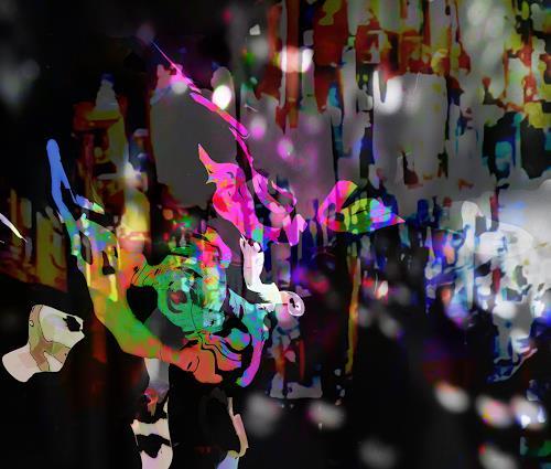 Rotraut Richter, Tausendundeinenacht, Mythology, Fantasy, New Image Painting, Abstract Expressionism