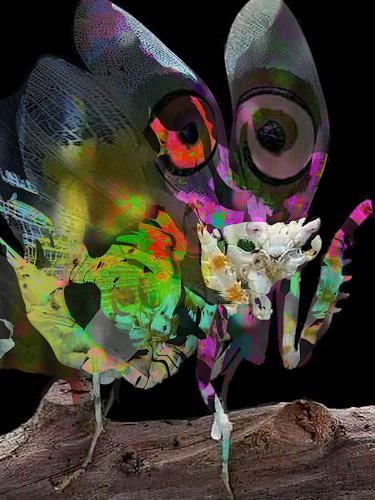 Rotraut Richter, Fantainsekt, Miscellaneous Animals, Fantasy, Contemporary Art, Abstract Expressionism