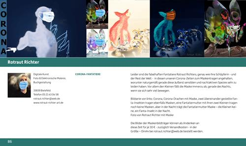 "Rotraut Richter, "" CORONA- FANTATIERE"", Burlesque, Miscellaneous Animals, New Image Painting"