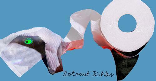 Rotraut Richter, KLOPAPIER 2, Burlesque, Miscellaneous Emotions, Contemporary Art