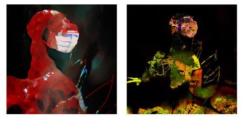 Rotraut Richter, DOPPELPORTRÄT, Burlesque, Miscellaneous Emotions, Contemporary Art