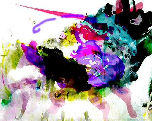 Rotraut Richter, SONDERBARES TIER, Burlesque, Fantasy, New Image Painting, Abstract Expressionism