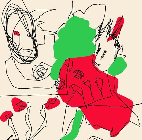 Rotraut Richter, ZEICHNUNGEN, Burlesque, Fantasy, New Image Painting