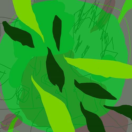 Rotraut Richter, BLÄTTER BLÄTTER, Miscellaneous Plants, Burlesque, Contemporary Art