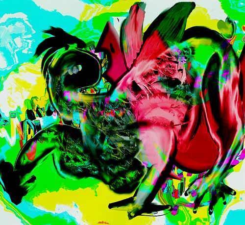 Rotraut Richter, Fantaechsen, Fantasy, Burlesque, New Image Painting
