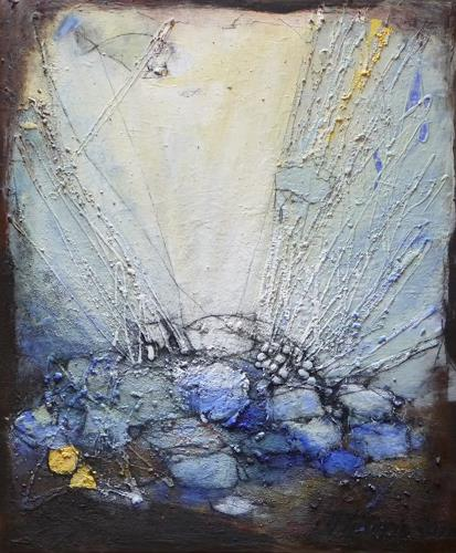 Philippin, Inge, Escaping through waters, Abstract art, Contemporary Art