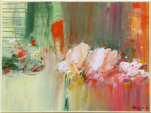 Philippin, Inge, Flowery 2, Abstract art, Plants: Flowers, Expressionism