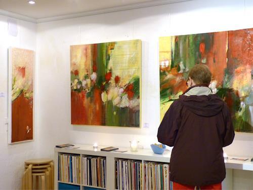 """Philippin, Inge, Ausstellung auf der """"Langen Kunstnacht LaKuNa 2014, Abstract art, Expressionism"""