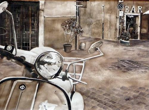 Philippin, Inge, Romantisches Italien, Traffic: Motorcycle, Interiors: Villages, Contemporary Art, Expressionism
