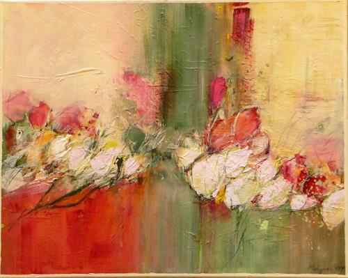 Philippin, Inge, Heyday 3, Abstract art, Plants: Flowers, Expressionism