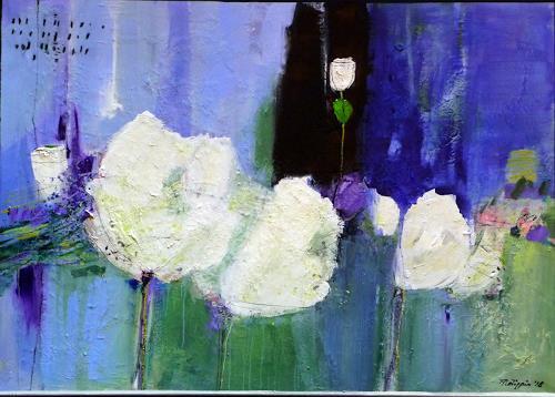 Philippin, Inge, Majestic Flowers 4, Plants: Flowers, Decorative Art, Contemporary Art, Expressionism