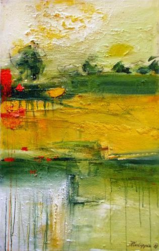 Philippin, Inge, Morning in Spring, Landscapes: Spring, Times: Spring, Contemporary Art