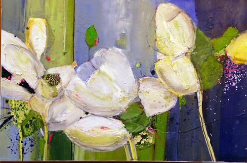 Philippin, Inge, Flowers, Plants: Flowers, Interiors: Gardens, Contemporary Art, Expressionism