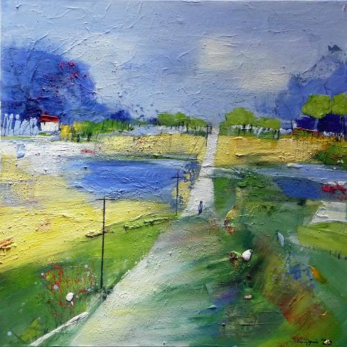 Philippin, Inge, Telegraph Road (song from Mark Knopfler), Miscellaneous Landscapes, Music: Musicians, Contemporary Art, Expressionism