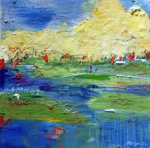 Philippin, Inge, Moorland, Landscapes: Sea/Ocean, Emotions: Love, Contemporary Art, Expressionism