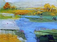 Philippin--Inge-Landscapes-Summer-Nature-Water-Contemporary-Art-Contemporary-Art