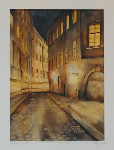 Philippin, Inge, Altstadt bei Nacht, Decorative Art, Land-Art