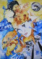 Yakuba-Elena-Abstract-art-People-Couples-Modern-Age-Symbolism