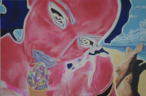 SCHENKEL, Eyescream, Erotic motifs: Female nudes, Landscapes: Sea/Ocean, Pop-Art, Abstract Expressionism