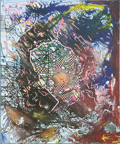 SCHENKEL, Burn-in-Syndrom, Miscellaneous, Abstract art, Neo-Geo, Abstract Expressionism