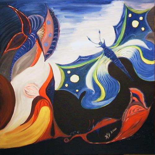 Barbara Straessle, Butterflies, Abstract art, Miscellaneous Animals