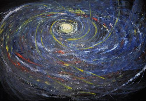 Barbara Straessle, Sternengespickte Galaxis, Miscellaneous Outer Space, Outer space: Stars, Contemporary Art