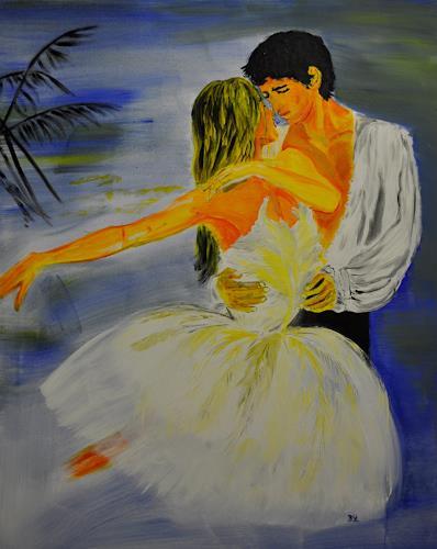 Barbara Straessle, SwanLake, People: Couples, Movement, Contemporary Art