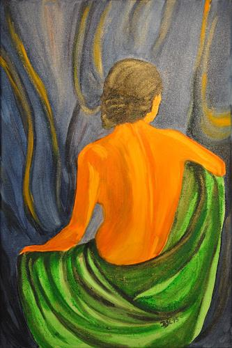 Barbara Straessle, Rückenakt, People: Women, Erotic motifs: Female nudes, Contemporary Art
