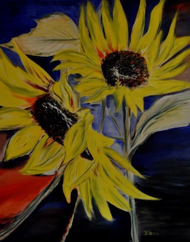 Barbara Straessle, Sonnenblumen, Plants: Flowers, Times: Summer, Contemporary Art