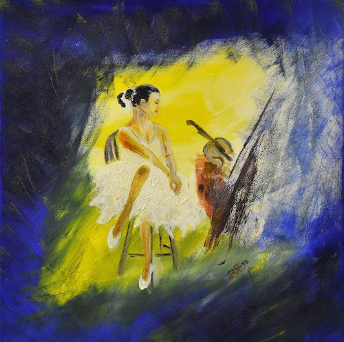 Barbara Straessle, Fee, People: Women, Miscellaneous Romantic motifs, Contemporary Art