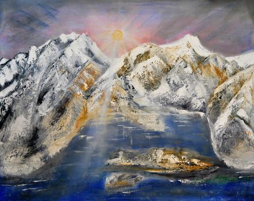 Barbara Straessle, Island von hinten, Landscapes, Nature: Rock, Land-Art