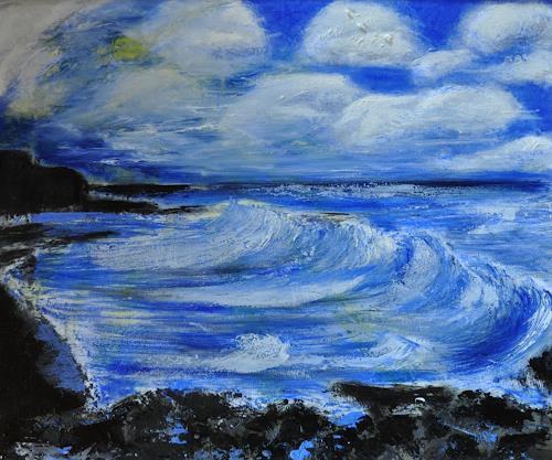 Barbara Straessle, Schwarzer Strand von Vik, Landscapes: Sea/Ocean, Miscellaneous Landscapes, Contemporary Art