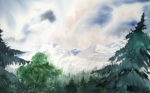 Stephanie Zobrist, Die Schweiz, Landscapes: Mountains, Nature: Wood, Naturalism