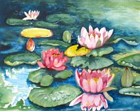 Stephanie-Zobrist-Nature-Water-Plants-Flowers-Modern-Age-Naturalism