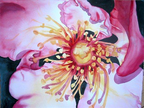 Stephanie Zobrist, Hagebuttenrose, Plants: Flowers, Nature: Wood, Naturalism, Expressionism